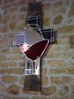 Kreuz mit Spiegel im Beaujolais