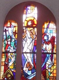Auferstehungsfenster in St. Gall, Sierck-les-Bains, Lothringen