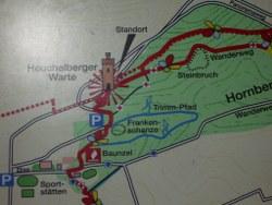 Lageplan Heuchelbergwarte