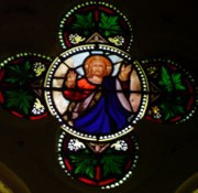 Kirchenfenster in Sierck-les-Bains, Lothringen/Frankreich