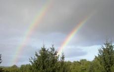Doppelter Regenbogen vom Gästezimmer Mai 2011