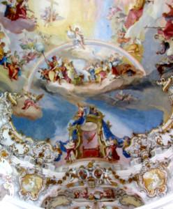 Christus aud dem Regenbogen, Wieskirche